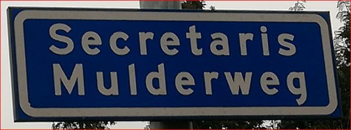 een foto van de huidige straatnaam