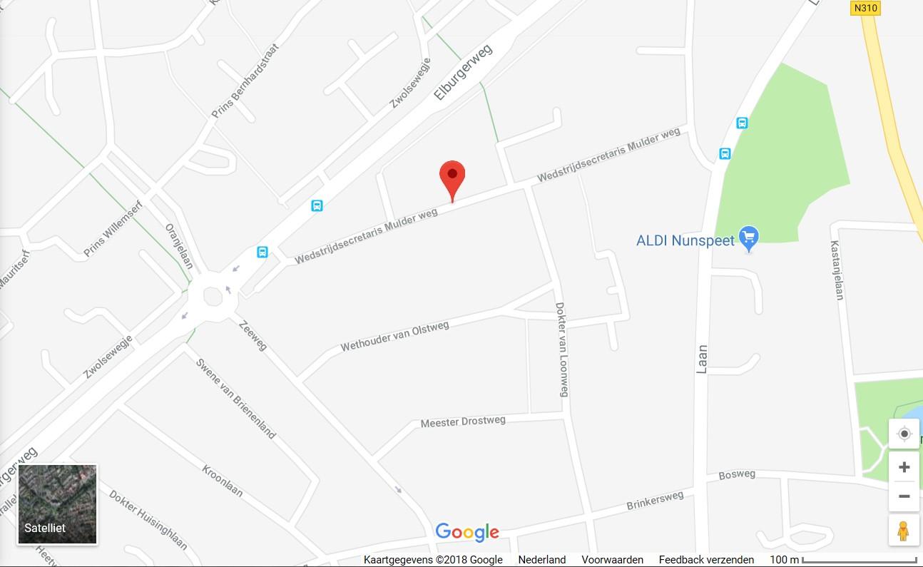 de nieuwe straat op Google Maps